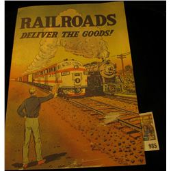 "985 _ Old Comic Book printed by the ""Association of American Railroads, Transportation Building, Was"