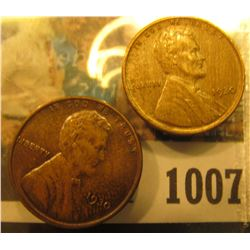 1007 _ Pair of 1930 P Lincoln Cents, both Brown Almost Uncirculated.