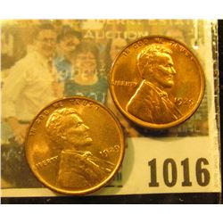 1016 _ Pair of 1929 D Lincoln Cents, both Brilliant Red Uncirculated.