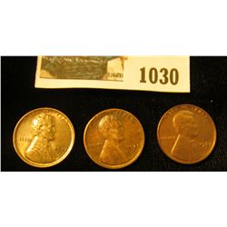 1030 _ 1925 P Brown Unc, 25 S EF, & 27 S AU-Unc Lincoln Cents.
