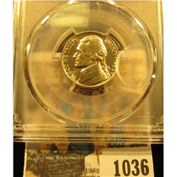 1036 _ 1989 P Jefferson Nickel PCGS slabbed MS66FS.
