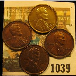 1039 _ (2) 1919 P, 19 D, & 19 S Lincoln cents, all nice Chocolate brown with hints of luster.
