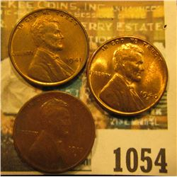1054 _ 1913D VF, 40 S Unc, & 1941 P Unc Lincoln Cents.