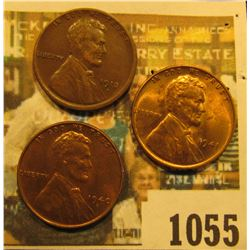 1055 _ 1913D VF, 40 S Unc, & 1941 P Unc Lincoln Cents.
