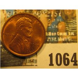 1064 _ 1909 P VDB Lincoln Cent, Red Gem BU.