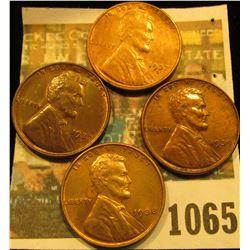 1065 _ (2) 1937 D AU, 38 P Unc, & 39 P Unc Lincoln Cents.