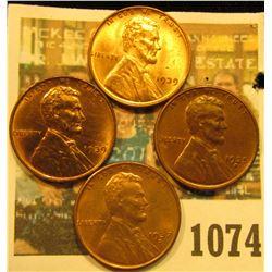 1074 _ 1935S AU, 37S BU, & (2) 39P BU Lincoln Cents.