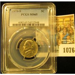 1076 _ 1970 S Jefferson Nickel PCGS slabbed MS65