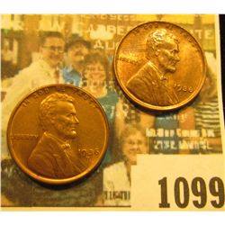 1099 _ Pair of 1936 D Lincoln Cents, Brilliant Red-Brown Uncirculated.