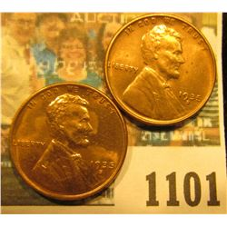 1101 _ Pair of 1935 S Lincoln Cents, Brilliant Red Uncirculated.