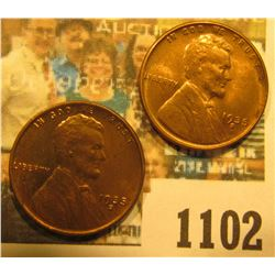 1102 _ Pair of 1935 S Lincoln Cents, Brilliant Red-brown Uncirculated.