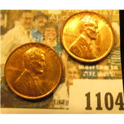 1104 _ Pair of 1935 P Lincoln Cents, mostly Brilliant Red Uncirculated.
