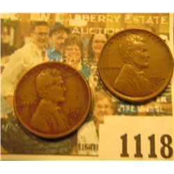 1118 _ 1934 D Lincoln Cent, Brown AU & 33 D Fine.