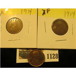 1128 _ (2) 1914 P EF & 38 S Uncirculated Lincoln Cent.