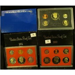 1138 _ 1981 S, 82 S, & 83 S U.S. Proof Sets. Original as issued.