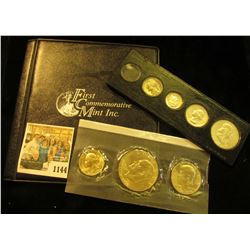 "1144 _ 2005 P ""Satin Finish Coin Collection"" Cent to Dollar in special holder issued by ""Fist Commem"