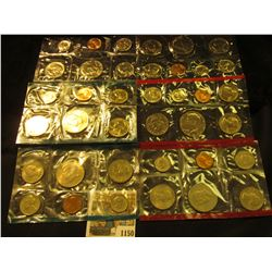 1150 _ 1979, 80, & 81 United States P & D Mint Sets, all in original cellophane, most in original en