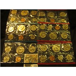 1151 _ 1979, 80, & 81 United States P & D Mint Sets, all in original cellophane, most in original en