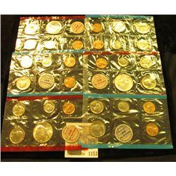 1153 _ 1968, 69, & 70 United States P & D Mint Sets, all in original cellophane, most in original en