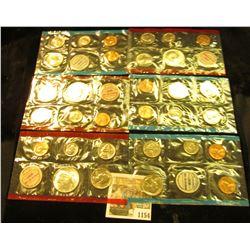 1154 _ 1968, 69, & 70 United States P & D Mint Sets, all in original cellophane, most in original en
