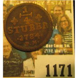 1171 _ 1784 P.M. Julich-Bery German States, KM # 205 1/4 Stuber