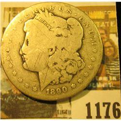 1176 _ 1890 CC U.S. Morgan Silver Dollar.