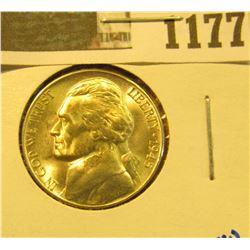 1177 _ 1945 D Blazing Beauty World War II Silver Jefferson Nickel.