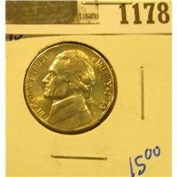 1178 _ 1943 D Blazing Beauty World War II Silver Jefferson Nickel.
