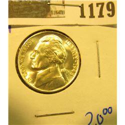 1179 _ 1945 P Blazing Beauty World War II Silver Jefferson Nickel.