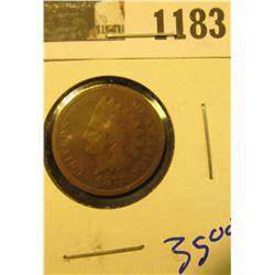 1183 _ 1875 U.S. Indian Head Cent.