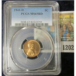 1202 _ 1941 D Lincoln Cent, PCGS slabbed MS65RD
