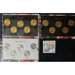 1203 _ 2003 Platinum Edition, 2004 Gold Edition, & 2005 Gold Edition State Quarter Sets. Each is a f