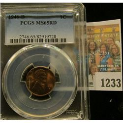 1233 _ 1946 D Lincoln Cent, PCGS slabbed MS65RD