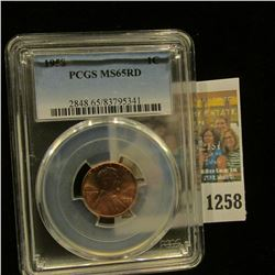 1258 _ 1958 P Lincoln Cent, PCGS slabbed MS65RD.
