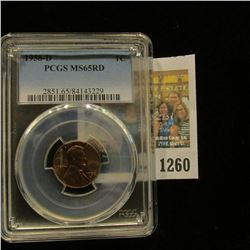 1260 _ 1958 D Lincoln Cent, PCGS slabbed MS65RD.