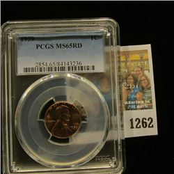 1262 _ 1959 P Lincoln Cent, PCGS slabbed MS65RD.