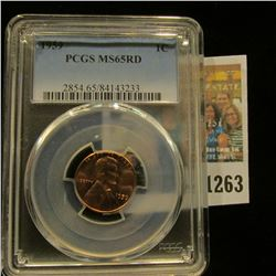 1263 _ 1959 P Lincoln Cent, PCGS slabbed MS65RD.