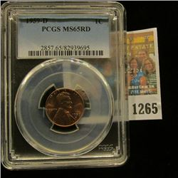 1265 _ 1959 D Lincoln Cent, PCGS slabbed MS65RD.