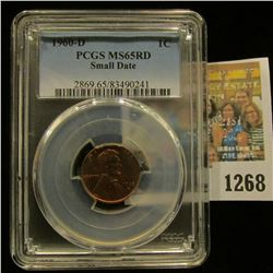 1268 _ 1960 D Small Date Lincoln Cent, PCGS slabbed MS65RD.