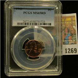1269 _ 1961 P Lincoln Cent, PCGS slabbed MS65RD.