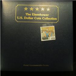 1270 _ The Eisenhower U.S. Dollar Coin Collection, by Postal Commemorative Society, all stamped, pos