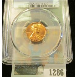 1286 _ 1964 P Lincoln Cent, PCGS slabbed MS65RD.
