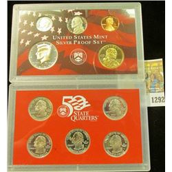 1292 _ 2000 S U.S. Silver Proof Set. Original as issued.
