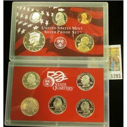 1293 _ 2002 S U.S. Silver Proof Set. Original as issued.