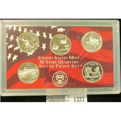 1327 _ 2004 S U.S, Silver State Quarter Proof Set, Original as issued. (5 pcs.).