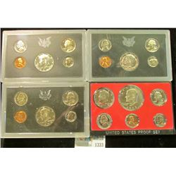 1333 _ 1969 S, 71 S, 72 S, & 73 S U.S. Proof Sets. All original as issued.
