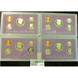 1334 _ 1988 S, 89 S, 90 S, & 91 S U.S. Proof Sets. All original as issued.