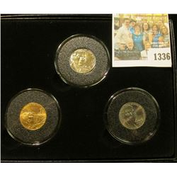 "1336 _ Encased Three-Piece Jefferson Nickel Set  ""2006 Return to Monticello"", all 2006 P one of whic"