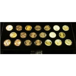 "1342 _ ""2011 Presidential Dollars: Philadelphia, Denver, Proof, and Satin Finish"" All encapsulated a"