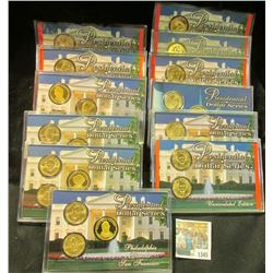 "1345 _ 12-case Set ""Presidential Dollar Series"" Contains thirty different Dollar coins. Includes (5)"